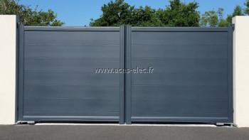 Menuiserie aluminium : Portail automatique sur mesure à cholet
