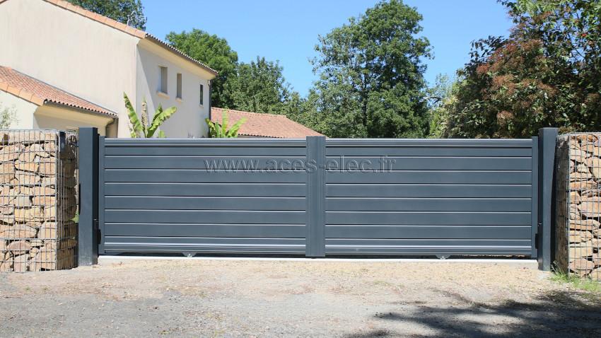 Portails coulissants motorisés à Bressuire : Portail aluminium direct usine