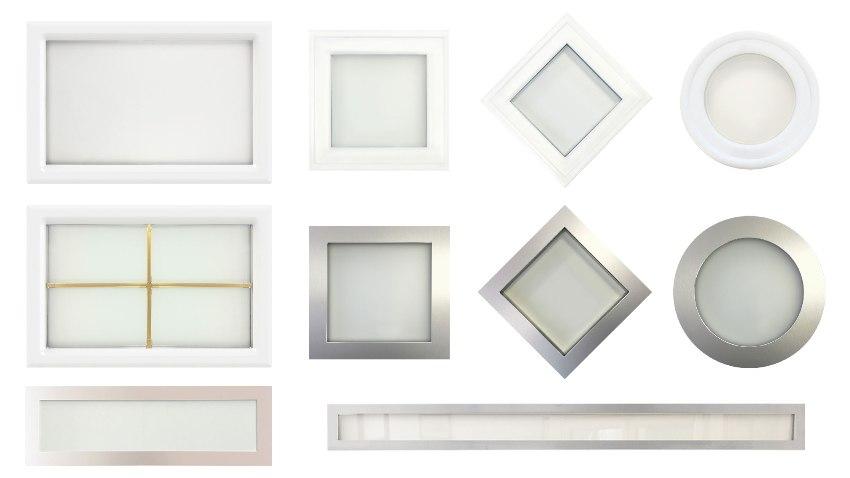 Les hublots rectangulaires, carrés, losanges, ronds et panoramiques
