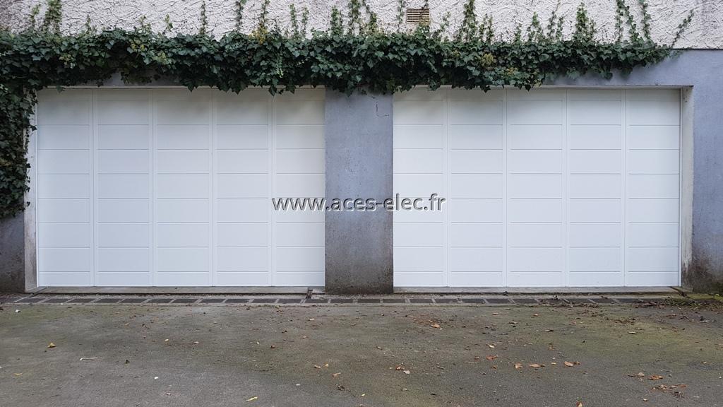 Portes de garages coulissantes sectionnelles sur rails alu Yzernay
