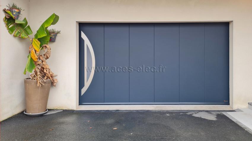 Installation d'une Porte de garage refoulement latéral motorisé ou manuelle à motoriser avec rail en aluminium extrudé