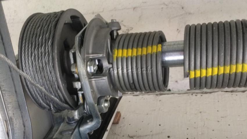Remplacement d'un kit de ressort porte de garage tubauto hormann et Dépannage de porte de garage sectionnelle électrique